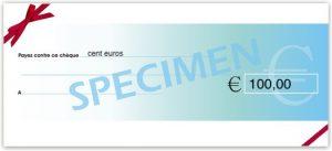 chèque cadeau parrainage de 100 euros